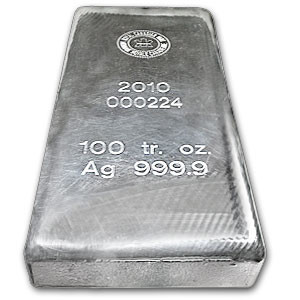 A 100 oz Silver Bar from the Royal Canadian Mint