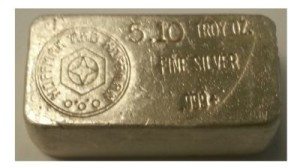 A 5.1 ozt Silver Bar from Hoffman and Hoffman
