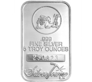 A 5 oz Silver Bar from the SilverTowne Mint