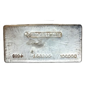 A 100 oz Silver Bar from Engelhard